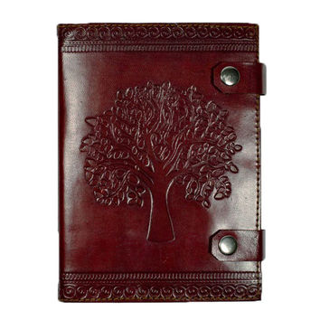 Tree of Life Handmade Journal with Leather Cover