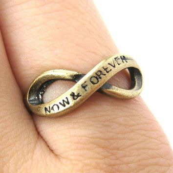 SALE Now and Forever Infinity Loop Ring Bronze Size 6 and 7 ONLY