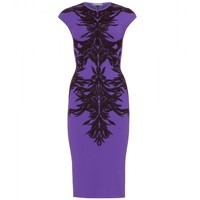 mytheresa.com -  Alexander McQueen - INTARSIA KNIT DRESS  - Luxury Fashion for Women / Designer clothing, shoes, bags