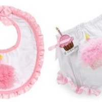Party Time Cupcake Bloomers and Bib