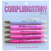 Complimentary Pen Set in Ombré Pink