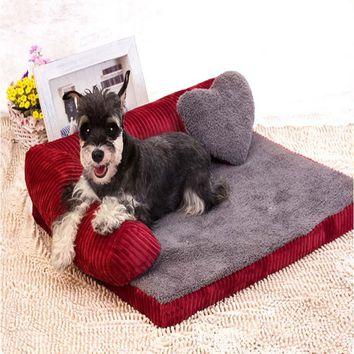 KIMHOME PET Cute Dog Beds For Large Dogs All Seasons Waterproof Pet Bed For Medium Dogs Full Disassembly Washable Dog House S-XL