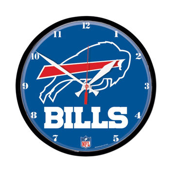 Buffalo Bills NFL Round Wall Clock