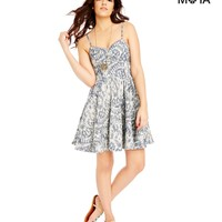 Aeropostale  Womens Printed Chambray Dress