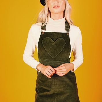 London Pinafore Dress (Hunter Green)