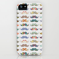 Mustache Mania iPhone & iPod Case by Bianca Green