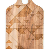 Etched Triangles Cutting Board