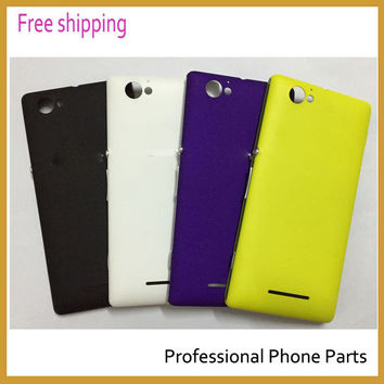 New Origina For Sony Xperia M c1905 c1904 Housing Back Cover Battery Door Case with Track Number