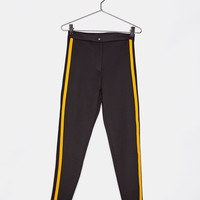 Leggings with side stripes - Pants - Bershka United States