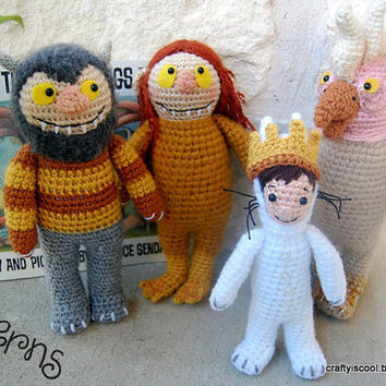PATTERNS Where the Wild Things Are Set of Four Crochet Amigurumi Patterns