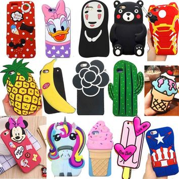 3D Cute Cartoon Animal Soft Silicone Back Cover Shells For iPhone 5 5S 5C SE 6 6s Plus X Xs 7 8 plus Phone Case Funda Capa Coque
