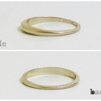 Vintage Ring: 10k Gold Band, Wedding Band