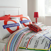 George Home Multi London Tube Map Duvet Set � Single | Bedding | ASDA direct