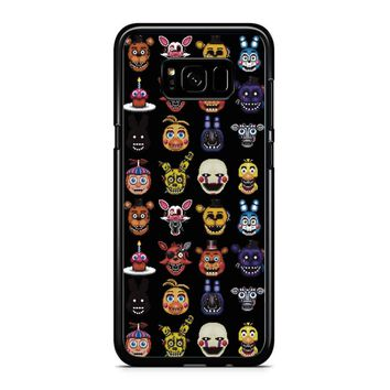 Five Nights At Freddy Pixel Art Characters Samsung Galaxy S8 Plus Case