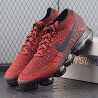 PEAPNW6 Sale Nike Air VaporMax Vapor Max 2018 Flyknit Men Sport Running Shoes Red Black - 849558-601