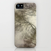 Trees, rain and fog iPhone & iPod Case by Guido Montañés