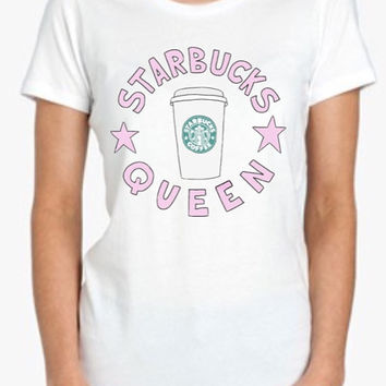 Starbucks Queen Tshirt Screenprinted Apparel Brandy Melville Inspired Design Clothing Unisex Adults Women Tees