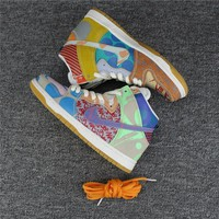 Beauty Ticks Nike Dunk Sb What The Dunk High 918321-381 Sneaker Size 36-45