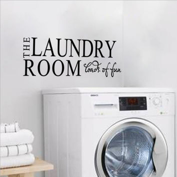 Environmental protection PVC home decor laundry room washing machine decorative alphabet fun wall stickers Paper
