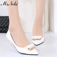 2016 new item thin heel pointed toe fashion shoes woman summer slip on low heel pumps ladies office shoes working casual sandals
