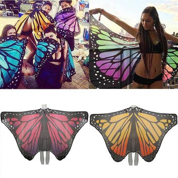 New Beach Cover Up Butterfly Wing Cape Fairy Bikini Cover Up Women  Swimwear Beach Pareo Bathing Suit