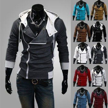 Latest Men's Assassins Style Hooded Jackets,Plus size(6XL,7 COLORWAYS) [9305695111]