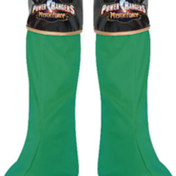 Costume Shoes: Power Ranger Green Boot Covers