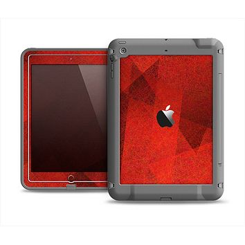 The Dark Red with Translucent Shapes Apple iPad Air LifeProof Fre Case Skin Set