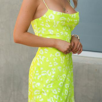 Highlight of My Day Neon Lime Dress