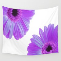 Purple Gerbera Flowers Wall Tapestry by Inspired Images