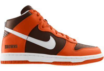 sports shoes b87e9 1c119 Nike Dunk High (NFL Cleveland Browns) iD from Nike
