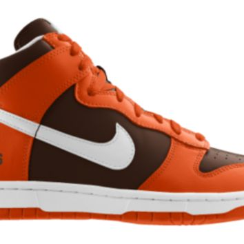 Nike Dunk High NFL Cleveland Browns iD Custom Men's Shoes - Orange