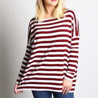 Piko 1988 Striped Long Sleeve Top
