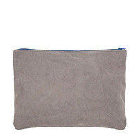 Large Suede Carry-All Pouch