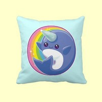 Kawaii Narwhal Pillows from Zazzle.com