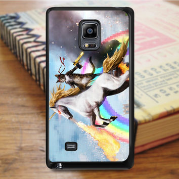 Cat Riding Unicorn Samsung Galaxy Note Edge Case