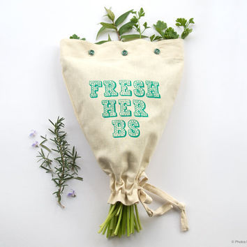 $35.35 FRESH HERBS Harvest Haversack  Handmade by HarvestHaversack