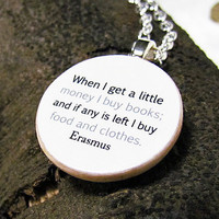 Erasmus Quote Bookish Charm