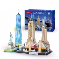 Cubicfun MC255 123pcs City Line New York 3D Paper  Model kit
