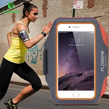 FLOVEME Sport Arm Band Case For iPhone 6 6S For iPhone 6 Plus 6S Plus Outdoor Waterproof Running Gym Phone Cover Coque Accessory