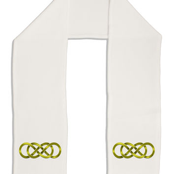 "Double Infinity Gold Adult Fleece 64"" Scarf"