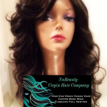 Custom Front Lace Wig 20 Inches with 180% Density with European Hair