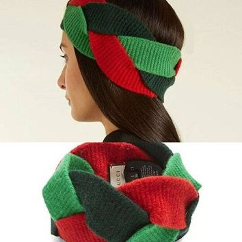 GUCCI Multicolor Wool Knit Head wrap Headband Warmer Head Hair Band Tagre™