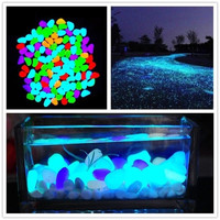 100 Piece Newest Home Decorative Pebbles Glow in the Dark Stones Home Garden Walkway Aquarium Fish Tank