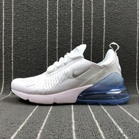 ONETOW Best Online Sale Nike Air Max 270 White Sliver Sport Running Shoes AH8050-100