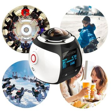 V1 4K 360 Degree Video Camera Sports DV VR Camera Wifi 2448*2448 Mini Waterproof Ultra HD Panorama Camera