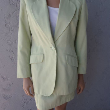70s Jacket Blazer and Skirt by Apart in Mint Green / Size 4 / Vintage Womens Clothing by Feisty Farmers Wife