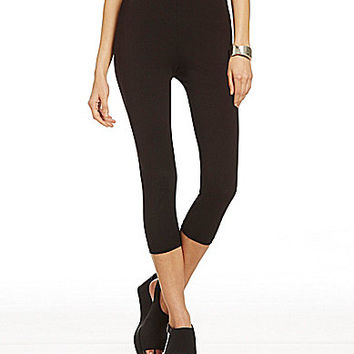 Bryn Walker Bamboo Cotton Capri Leggings - Black