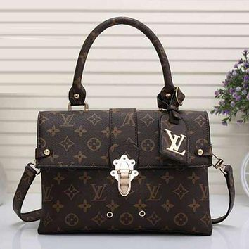 LV Louis Vuitton Women Fashion Shopping Bag Leather Satchel Shoulder Bag Tote Handbag Crossbody