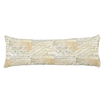 Vintage Sheet Music Body Pillow
